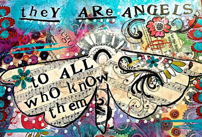 They Are Angels Art Print by Kathy Donner Parara