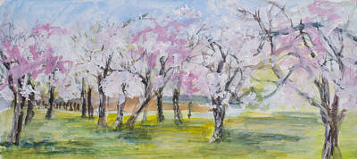 Painting - They Blossom, Then We Gaze by Wendy Le Ber