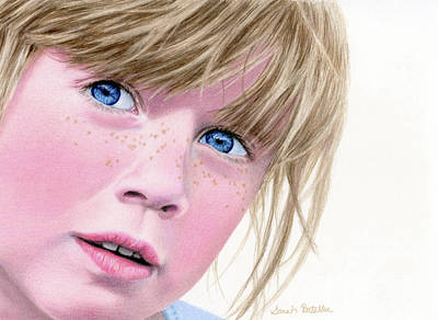 Drawing - They Call Her Freckles by Sarah Batalka