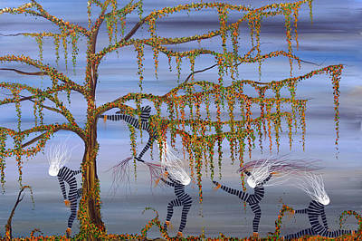 They Danced As Though Her Life Depended On It. Art Print