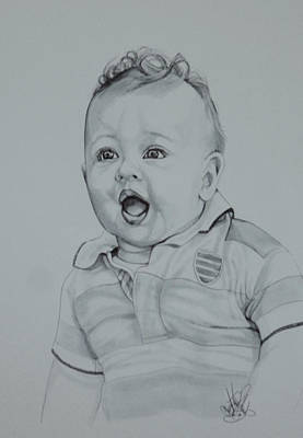 Drawing - They Grow So Fast by Cheryl Poland