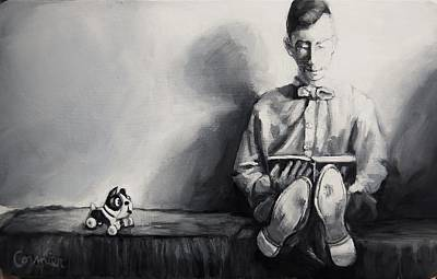 Painting - He And Barky Had Been Best Friends For Years by Jean Cormier
