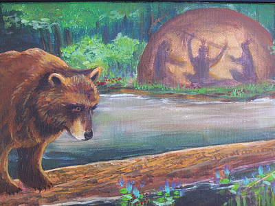 Oneida Painting - They Hear Them Calling by Owisokon Lahache
