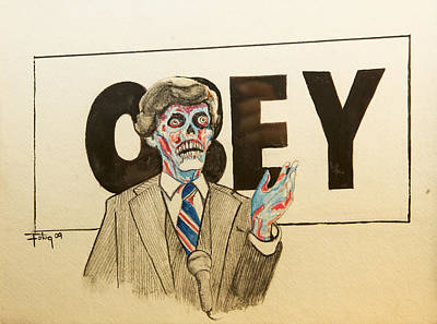 They Live Art Print by Christopher Chouinard