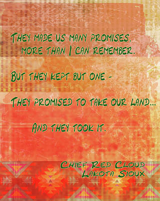 Digital Art - They Made Us Promises by Paulette B Wright