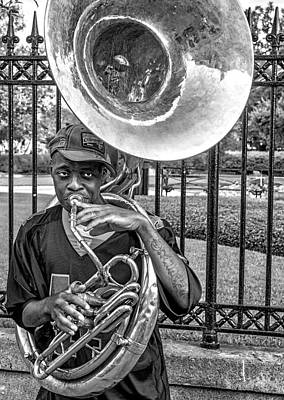 They Say It's The Sousaphone Players You Have To Look Out For... Art Print by Kirk Cypel