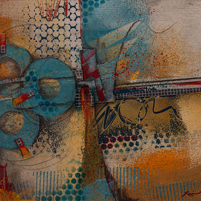 Lines Mixed Media - They Sipped Strong Coffee by Laura Lein-Svencner