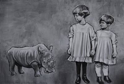 Painting - They're So Cute When They're Little by Jean Cormier
