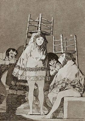 Etching Painting - They've Already Got A Seat by Francisco Goya