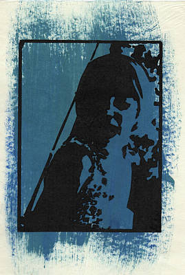 Digital Art - Thia, Blue  by Erik Paul