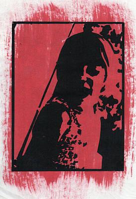 Drawing - Thia, Red by Erik Paul