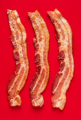 Kitchen Photograph - Thick Cut Bacon Served Up by Steve Gadomski