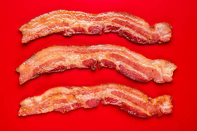Thick Cut Bacon Art Print by Steve Gadomski
