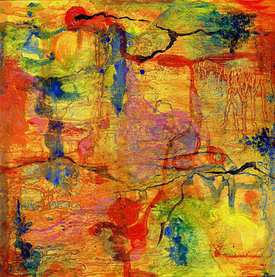 Oil Slick Painting - Thick Film Birefringence by Regina Valluzzi