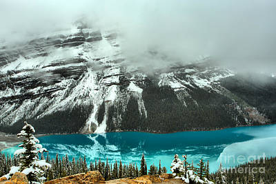 Photograph - Thick Fog Over Peyto Lake by Adam Jewell