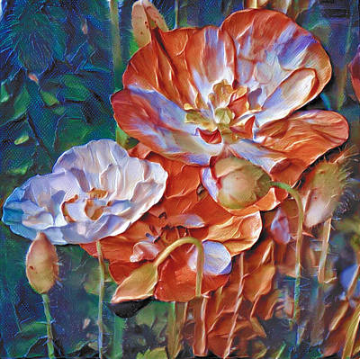 Digital Art - Thick Paint Flowers 2 by Yury Malkov