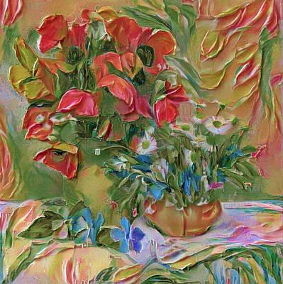 Digital Art - Thick Paint Flowers by Yury Malkov