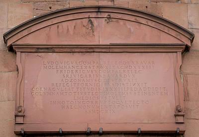 Dicker Turm Inscription Plate Art Print by Teresa Mucha
