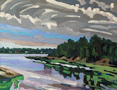 Conveyor Belt Painting - Thickening Cloud by Phil Chadwick