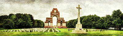 Photograph - Thiepval Memorial - Vintage Version by Weston Westmoreland