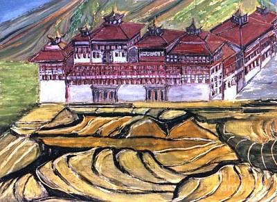 Thimpu Dzong Art Print by Duygu Kivanc