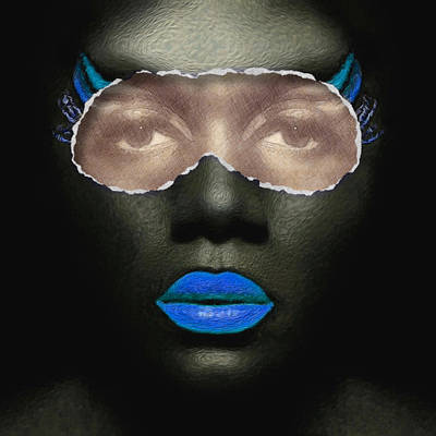 Digital Art - Thin Skinned Blue by ISAW Gallery