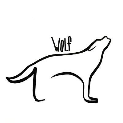 Thin Wolf Art Print