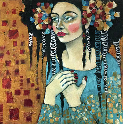 Portrait Mixed Media Painting - Thine Own Self by Jane Spakowsky