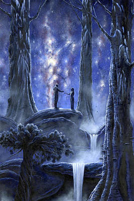 The Hobbit Wall Art - Painting - Thingol And Melian by Kip Rasmussen
