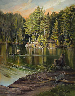 Painting - Things Are Hopping On Mirror Lake by Nancy Griswold