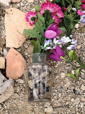 Photograph - Things Remembered Terlingua Cemetary by Kerry Beverly