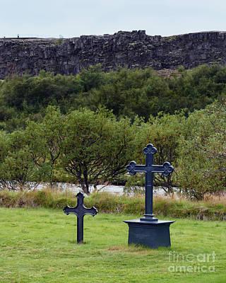 Photograph - Thingvellir Church Cemetery, Iceland by Catherine Sherman