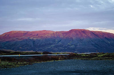 Photograph - Thingvellir Mountains At Sunset by Deborah Smolinske