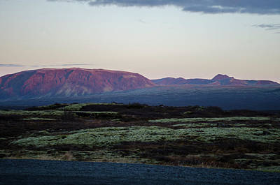 Photograph - Thingvellir Sunset Mountain 2 by Deborah Smolinske