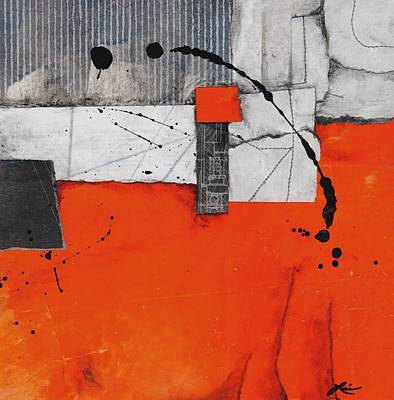 Orange Mixed Media - Think Balance by Laura  Lein-Svencner