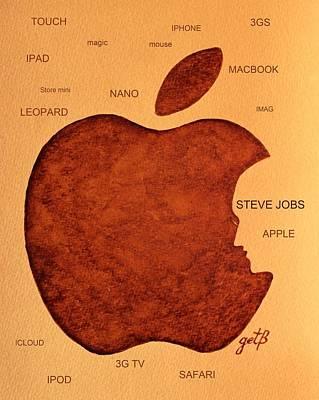 Steve Jobs Painting - Think Different Steve Jobs 2 by Georgeta  Blanaru