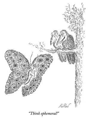Drawing - Think Ephemeral by Edward Koren