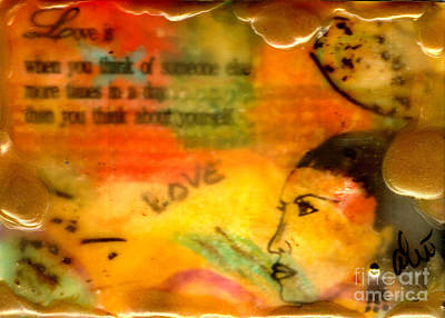 Mixed Media - Think Of Others by Angela L Walker