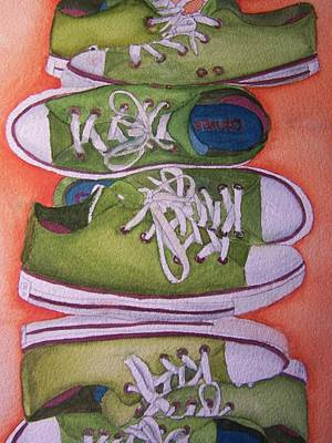 Conversing Mixed Media - Think Outside The Shoe by Corey Stewart