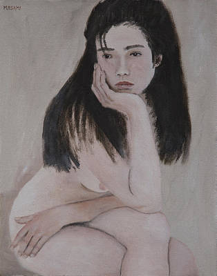 Painting - Thinker by Masami Iida