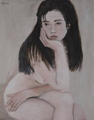 Painting - Thinker by Masami Iida