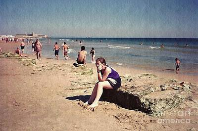 Photograph - Thinker On The Beach by Sarah Loft