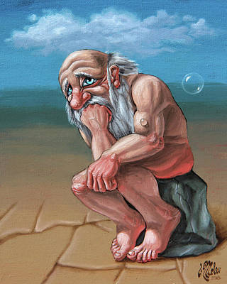 Painting - Thinker by Victor Molev