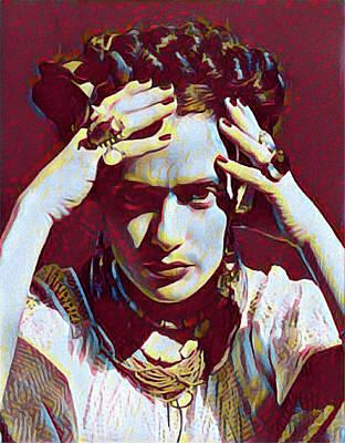 Digital Art - Thinking Frida by Gary Grayson