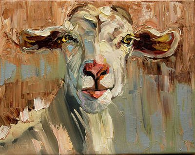 Painting - Thinking Goat by Diane Whitehead