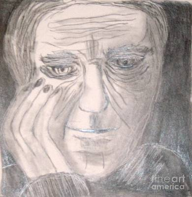 Painting - Thinking Man by Victoria Hasenauer