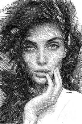 Digital Art - Thinking Mood by Rafael Salazar