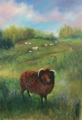 Thinking Of Ewe Art Print by Sally Seago