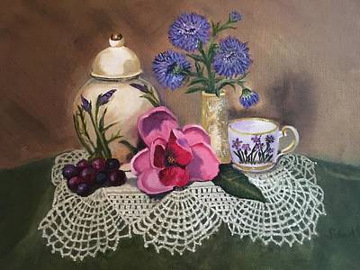 Painting - Thinking Of Tea  by Sharon Schultz