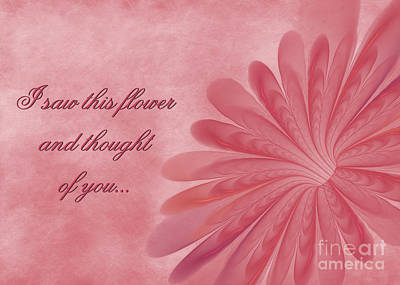 Digital Art - Thinking Of You Blossom by JH Designs